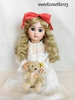 """Doll Wig Light Blonde Size 16"""" New in Pkg. Synthetic Long Curls NICE"""