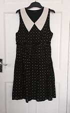 Dorothy Perkins Black With Hearts & Spots Dress /size 10 / New