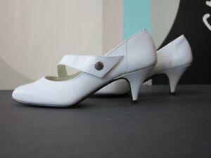 Pumps Damenschuhe Leder 80er True VINTAGE 80s leather high heels shoes NOS 36