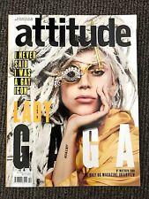 Rare Vintage UK Attitude Magazine Lady Gaga December 2013 Gay Interest