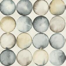 Wallquest PEAR Tree Bubbles Pattern Wallpaper Water Colour Circles Metallic Roll
