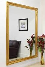 Extra Large Classic Ornate Styled Gold Mirror 6Ft7 X 4Ft7 201cm X 140cm