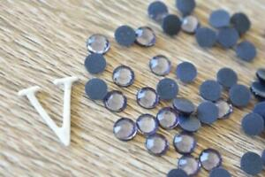 Violet 2mm/SS06 Hotfix 700pcs-3500pcs Glass Rhinestone Iron On Flatback