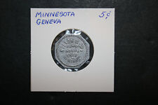 Vintage Nelson & Co General Store Token Good For 5¢ In Trade Geneva MN Medallic