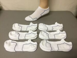 Hue Cotton Blend Cushioned Breathable Massaging No Show Socks White 6 Pair #706R