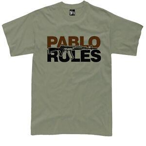 Pablo Escobar T Shirt Narcos cocaine tshirt kalasnikhov ak 12 rifle shirt