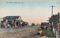 .RARE EARLY 1900s WOODY POINT, QLD NEAR THE JETTY, RETRAC SERIES POSTCARD.