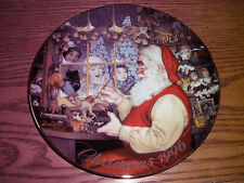 "1996 "" Santa's Loving Touch"" Decorative Avon Christmas Holiday plate"