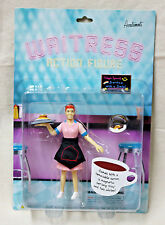 Accoutrements Posable WAITRESS ACTION FIGURE Restaurant Diner Waiter Food Server