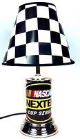 Nascar Nextel Cup Series Lamp Checker Flag Shade Vintage Table Racing