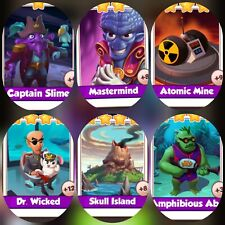 6 cards from Supervillains Set #### Coin Master Cards