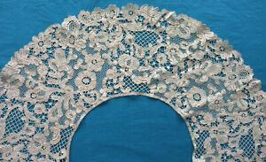 Antique 19th century bobbin lace bertha