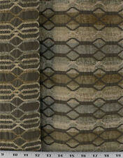 Drapery Upholstery Fabric Reversible Chenille Chain Linked Stripes - Railroaded