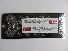 RACING DEVELOPMENT TRD TOYOTA 2 piece set 3D STICKER BADGE