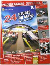 LE MANS 24 Heures Du Mans 2007 Motor Racing Official Programme French