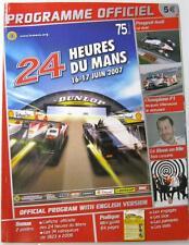 Le mans 24 heures du mans 2007 motor racing programme officiel français
