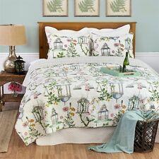 Garden Folly Williamsburg Twin Size 2 Pc Quilt Set 100% Cotton Quilt +1 Sham C&F