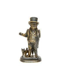 Vienna Style Bronze Zimmerman Gentleman with Dog Figure Match Holder