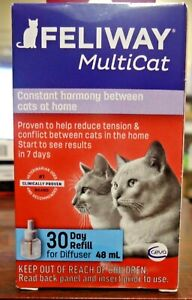 NEW!! Feliway Multicat 30 Day Refill for Diffuser (1333)