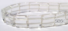 Crystal Quartz 12x12mm 2 Hole Square (approx. 16 inch strand) FREE SHIPPING!