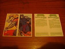 Teenage Mutant Hero Turtles Double Card Full Set By Brooke Bond Tea