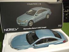 MERCEDES BENZ E 500 Coupé 2009 Bleu Indigolithblau métellic 1/18 NOREV 183542