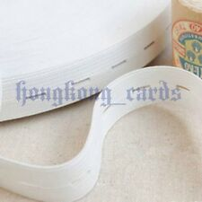 "=20mm 3/4"" Width White Buttonhole Button Hole Elastic Adjust Clothing 20 yards"