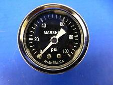 """Marshall Gauge 0-100 psi Fuel Pressure Oil Pressure Gauge Black 1.5"""" Diameter"""