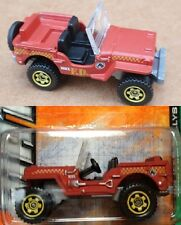 1943 WILLYS JEEP Matchbox FIRE DEPARTMENT Loose - Fresh out of box for photos