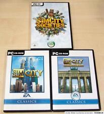 3 PC SPIELE SAMMLUNG SIM CITY SOCIETIES - 3000 - DEUTSCHLAND