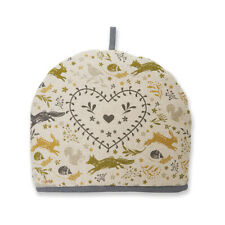 Cooksmart Woodland Tea Cosy Warmer Animal Nature Green Mustard Country Style