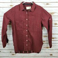Rag & Bone /Shirt Women Medium Red Checked Excellent Button Up Plaid Inside