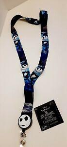 Nightmare Before Christmas Keychain Jack Skellington Lanyard Card Holder Disney