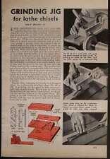 SKEW Lathe Chisel Sharpener Grinding Jig How-to build PLANS
