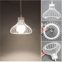 Modern Metal Pendant Light Lamp Chandelier Cage Ceiling Lighting DIY Fixture
