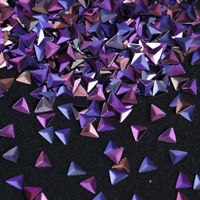 0.7g AB Color Nail Art Sequins Glitter Chameleon Triangle Purple Flakies Tips