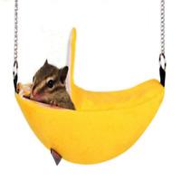 Banana shape Birds Ferret Rat Squirrel Hammock Hanging Bed Cage Hamster Nest Bed