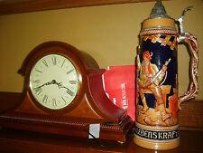 17 inch golden crown gun hunter beer stein mug with sticker from Switzerland