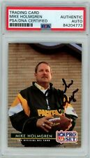 Mike Holmgren 1992 Pro Set RC Rookie Packers PSA/DNA Signed Auto Autograph