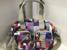 NEW! KIPLING DEFEA CONVERTIBLE SLING CROSSBODY BAG PURSE SATCHEL K SQUARED BERRY