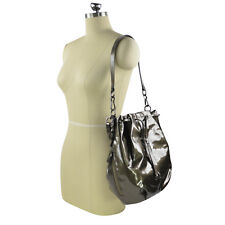 NWT Coach Madison Patent Leather Marielle Drawstring Bag Handbag 18820 Pewter