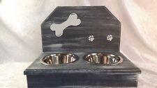 Futterbar Hundebar Futterstation Napfhalter mit Spritzschutz Wunschname