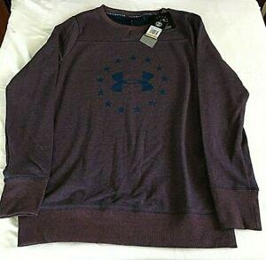 $55 Under Armour 1305245-997 Women's Freedom Threadborne Crew Sweatshirt SM NWT