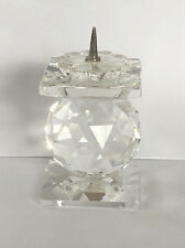 Swarovski Crystal Candle Holder European Pin Style