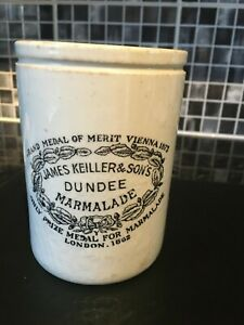 """Vintage marmalade pot. James Keiller and Sons Dundee Excellent condition. 6""""tall"""