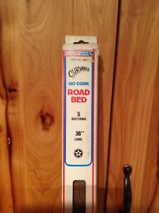 """Life-Like Products Curvable Cork Road Bed HO 36"""" 5 Sections"""