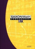 Saxon Math 8/7: Homeschool Student Text by SAXON PUBLISHERS
