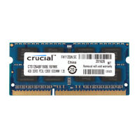 Crucial 4GB PC3L-12800S 2RX8 DDR3L 1600MHz 204pin Memory Laptop SODIMM RAM 1.35V