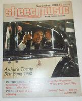 Sheet Music Magazine Arthur's Theme Best Song 1982 November 1983 102414R