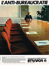PUBLICITE ADVERTISING 094  1979  STRAFOR   mobilier de bureau 2